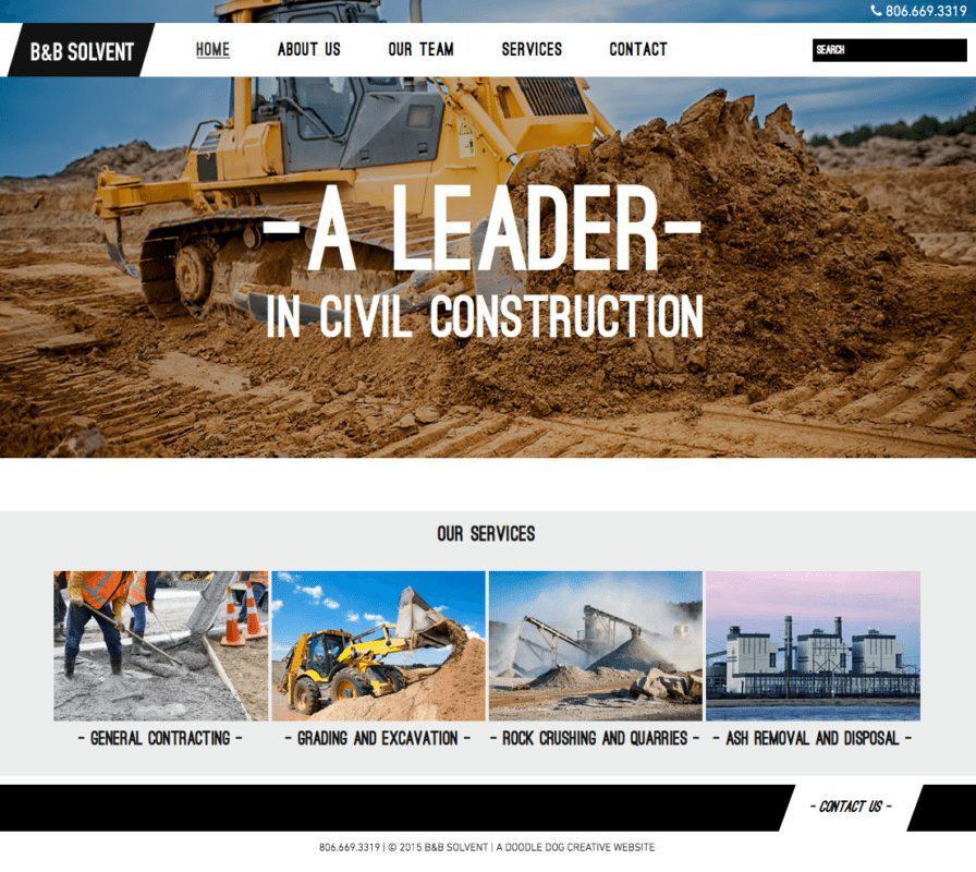 Dịch vụ thiết kế web xây dựng